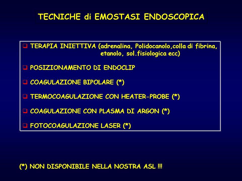 TECNICHE di EMOSTASI ENDOSCOPICA