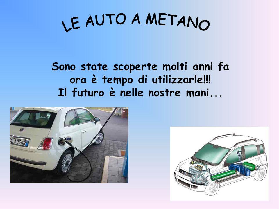 LE AUTO A METANO Sono state scoperte molti anni fa ora è tempo di utilizzarle!!.