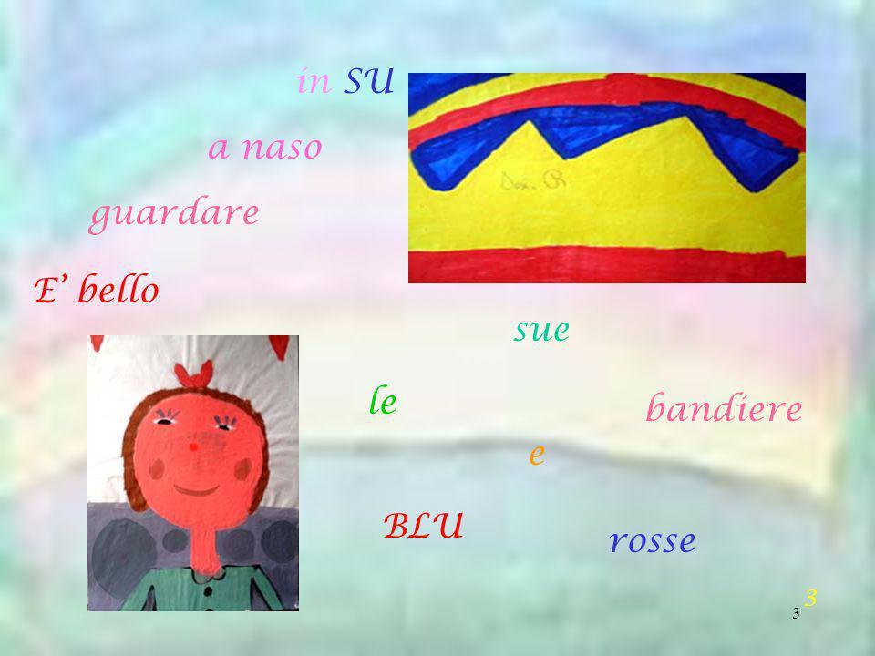 in SU a naso guardare E' bello sue le bandiere e BLU rosse 3
