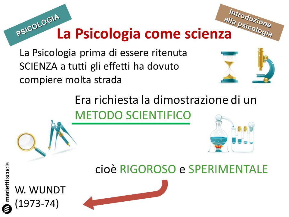 La Psicologia come scienza