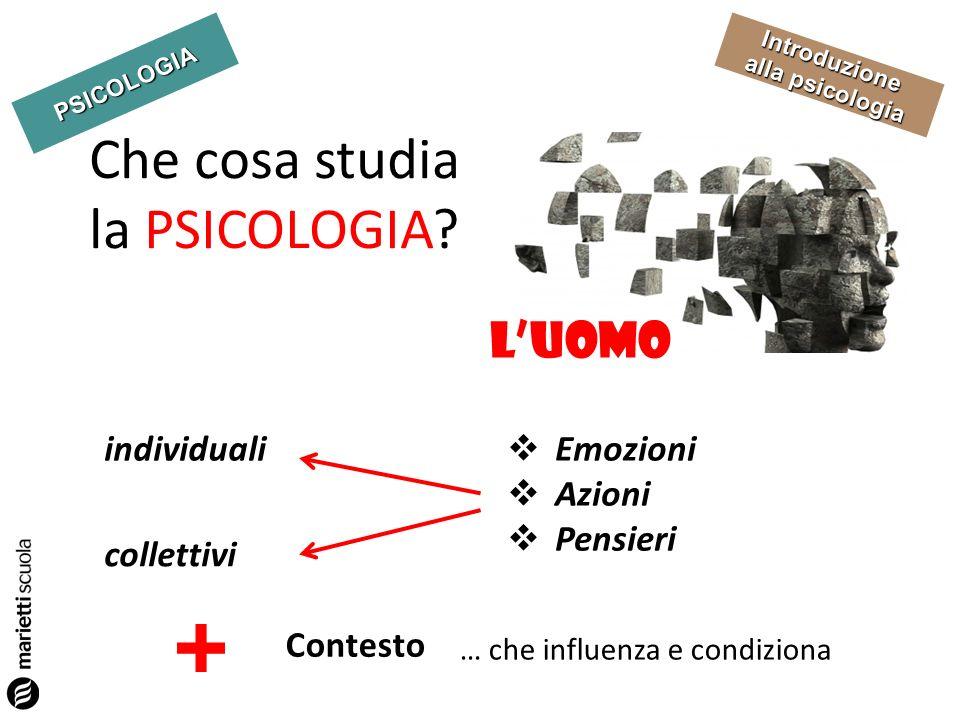 Che cosa studia la PSICOLOGIA