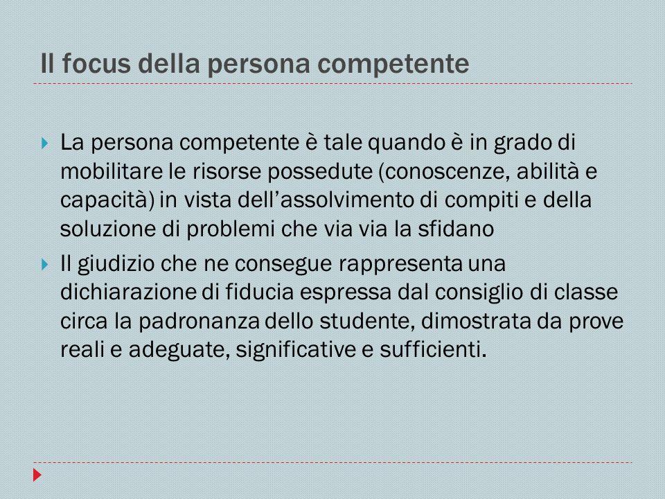 Il focus della persona competente