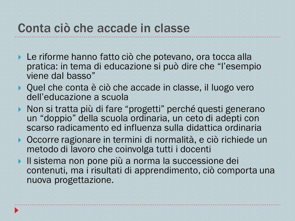 Conta ciò che accade in classe