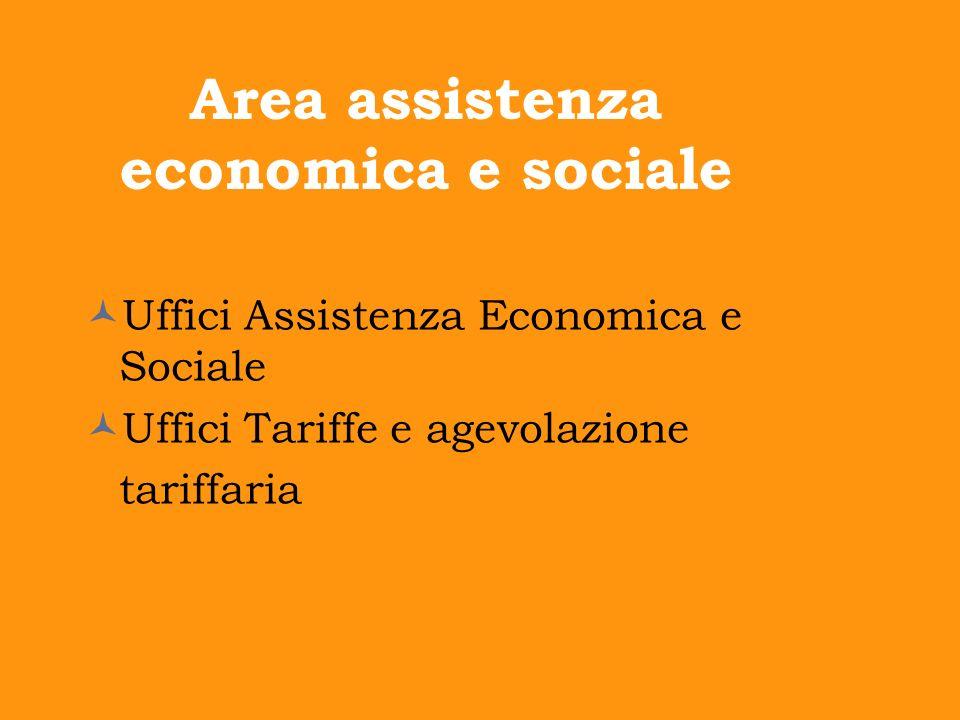 Area assistenza economica e sociale