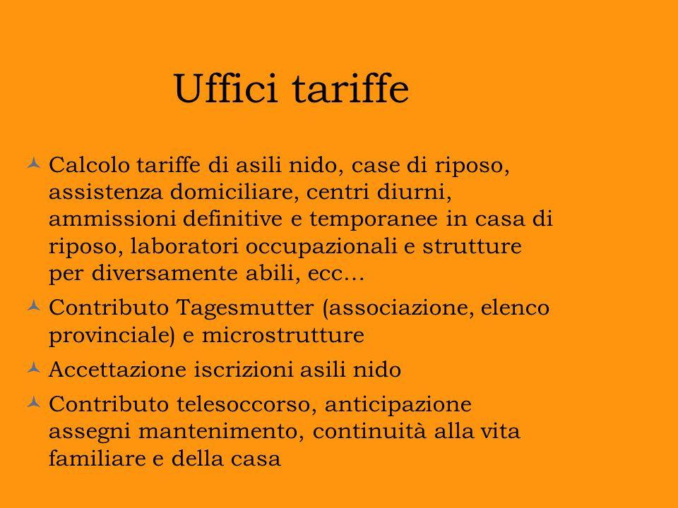 Uffici tariffe