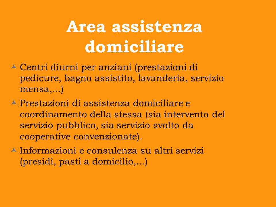 Area assistenza domiciliare