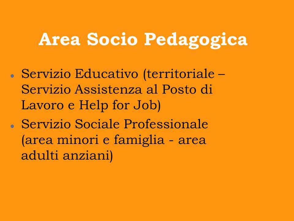 Area Socio Pedagogica Servizio Educativo (territoriale – Servizio Assistenza al Posto di Lavoro e Help for Job)