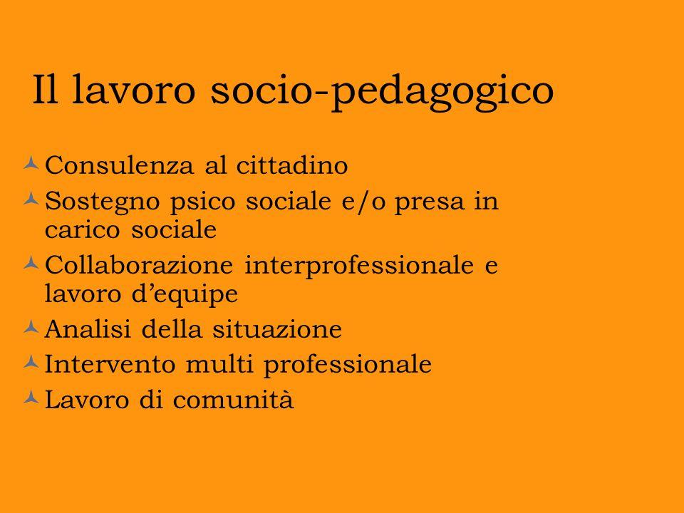Il lavoro socio-pedagogico