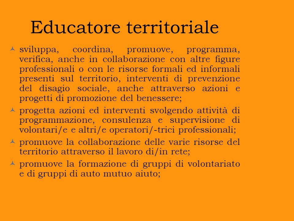 Educatore territoriale