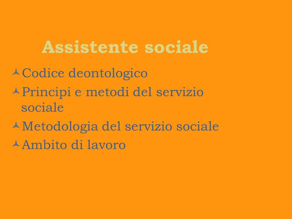 Assistente sociale Codice deontologico