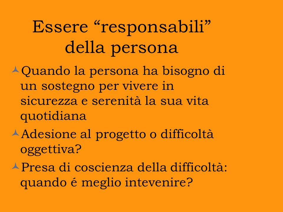 Essere responsabili della persona