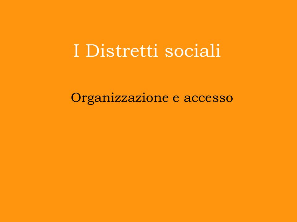 Organizzazione e accesso