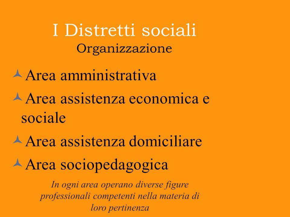 I Distretti sociali Organizzazione