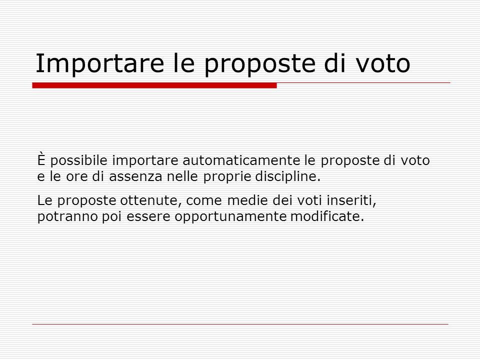 Importare le proposte di voto