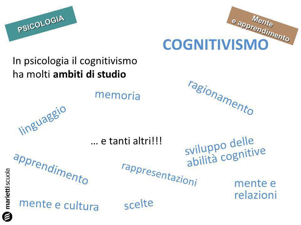 COGNITIVISMO ragionamento memoria linguaggio