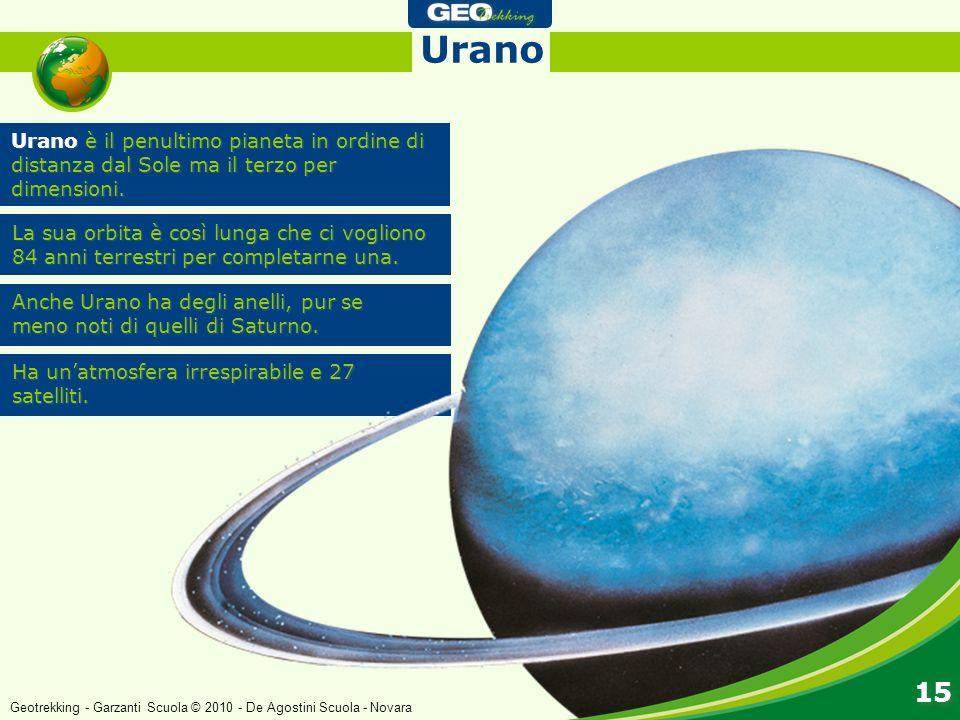 Urano Urano è il penultimo pianeta in ordine di distanza dal Sole ma il terzo per dimensioni.