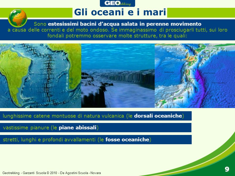 Gli oceani e i mari