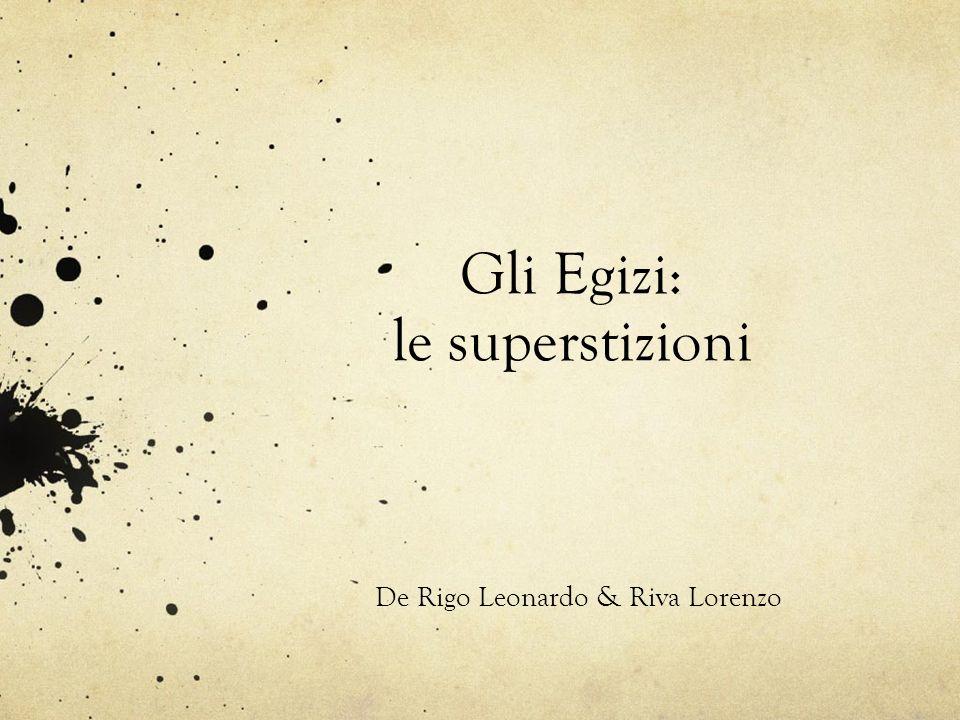 Gli Egizi: le superstizioni