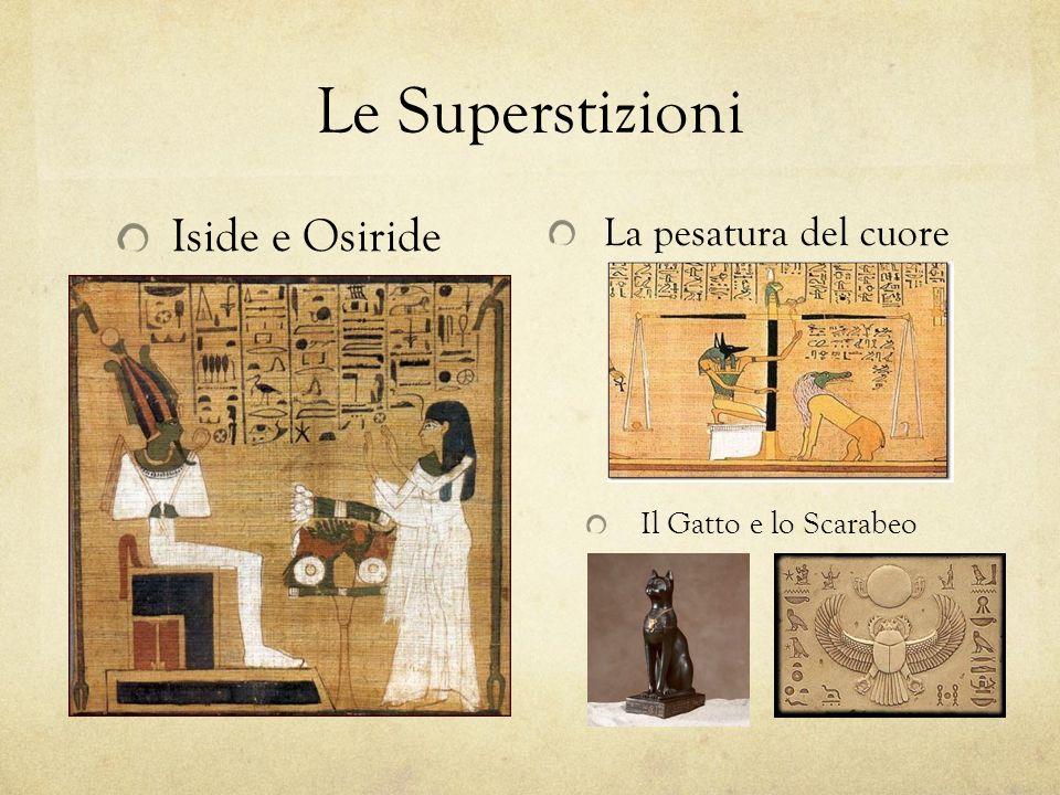 Le Superstizioni Iside e Osiride La pesatura del cuore