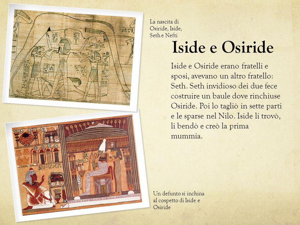 La nascita di Osiride, Iside, Seth e Nefti
