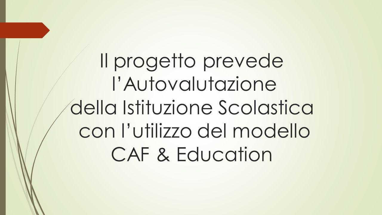 Il progetto prevede l'Autovalutazione della Istituzione Scolastica con l'utilizzo del modello CAF & Education