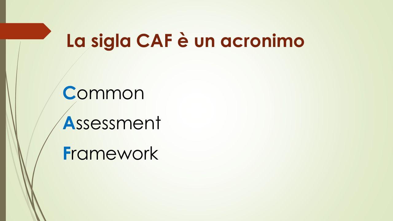 La sigla CAF è un acronimo