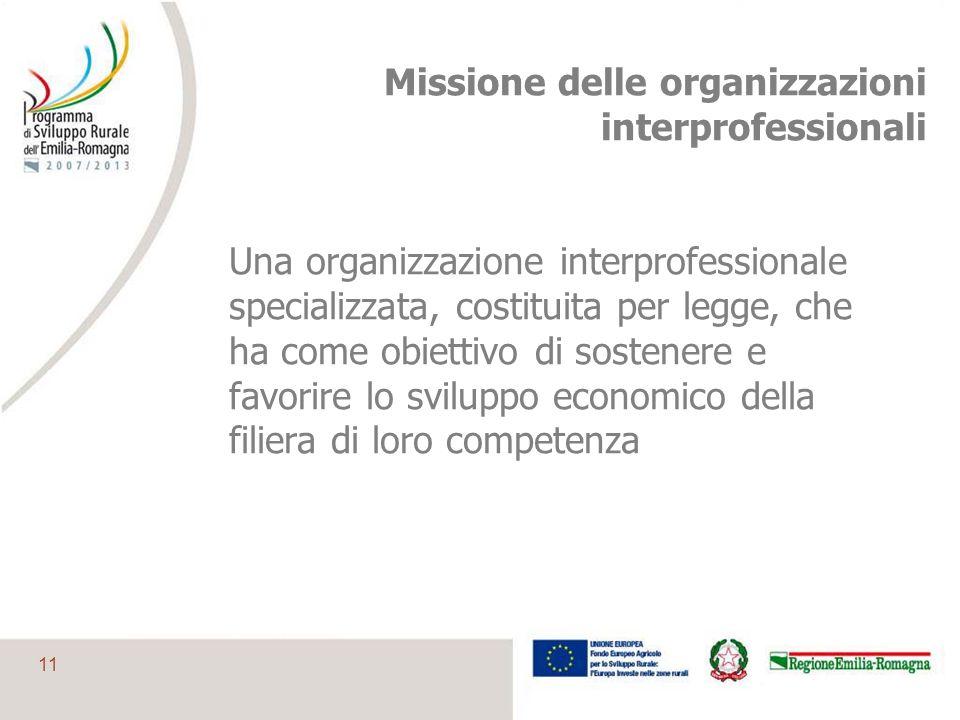 Missione delle organizzazioni interprofessionali