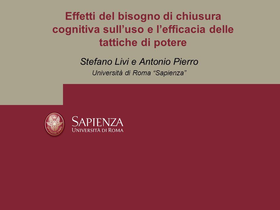 Stefano Livi e Antonio Pierro Università di Roma Sapienza
