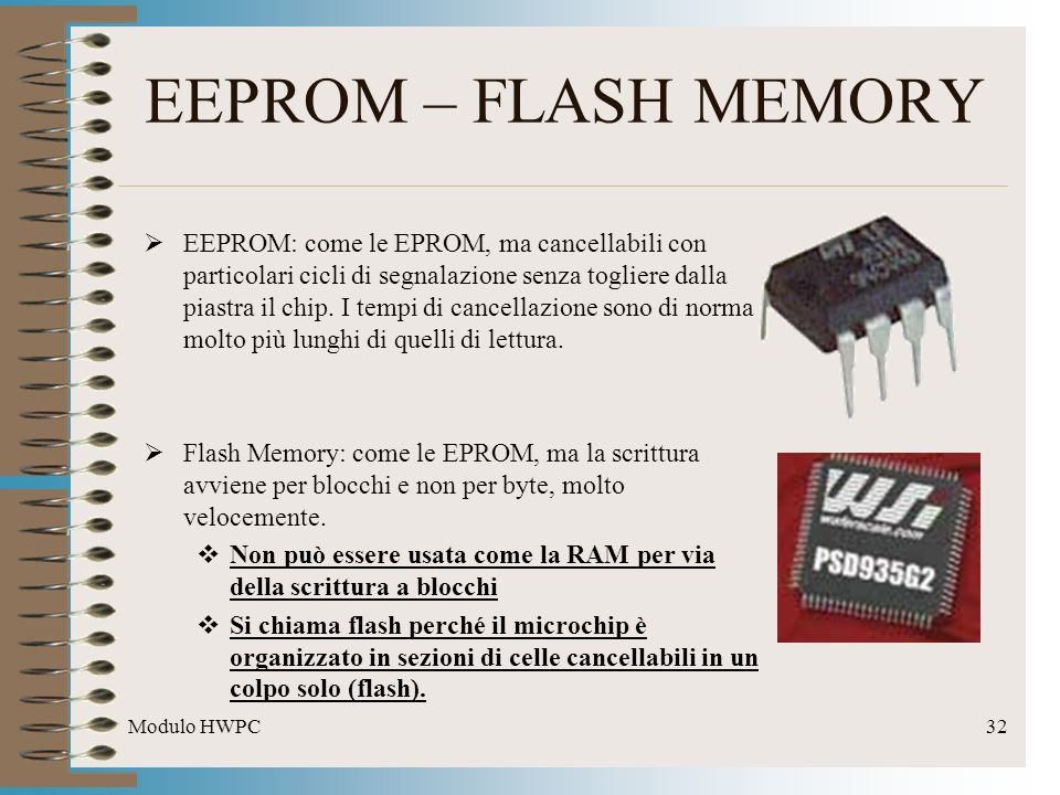 EEPROM – FLASH MEMORY