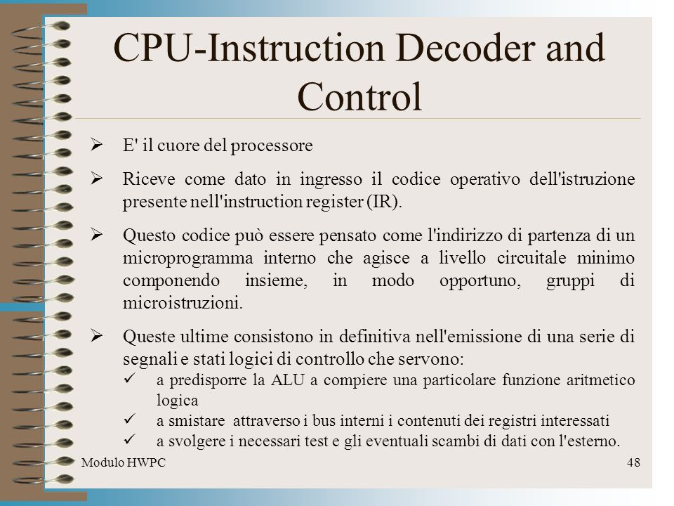 CPU-Instruction Decoder and Control