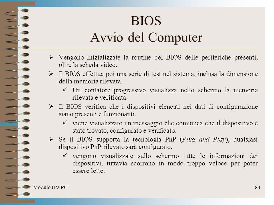 BIOS Avvio del Computer