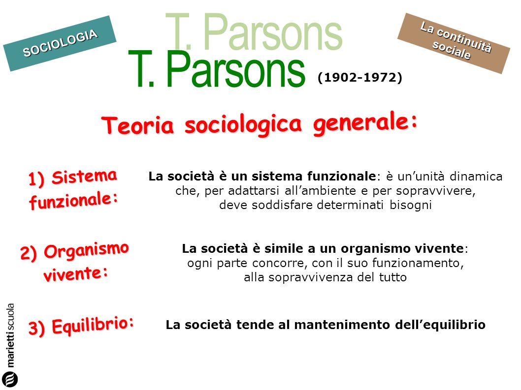 Teoria sociologica generale: