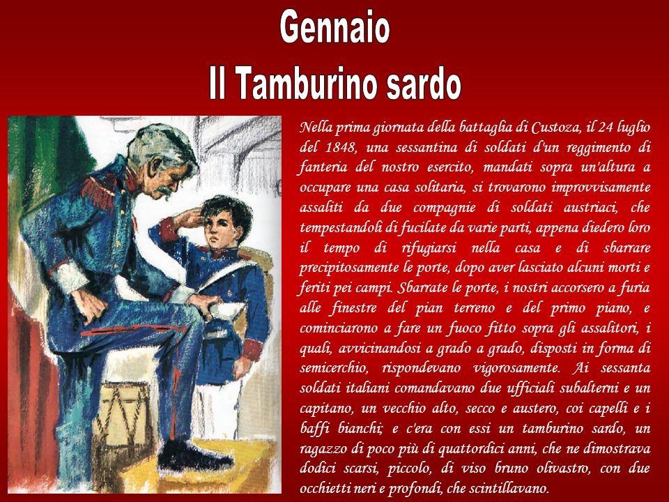 Gennaio Il Tamburino sardo