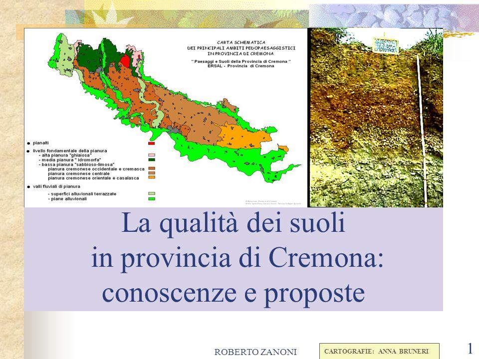 La qualità dei suoli in provincia di Cremona: conoscenze e proposte