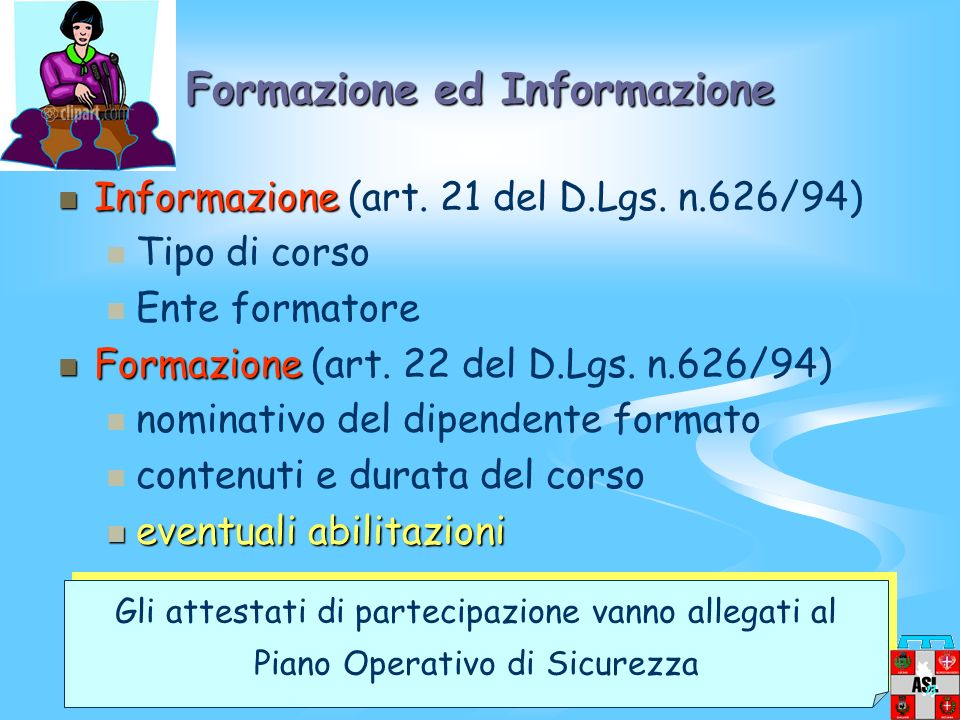 Formazione ed Informazione