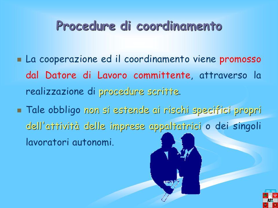 Procedure di coordinamento