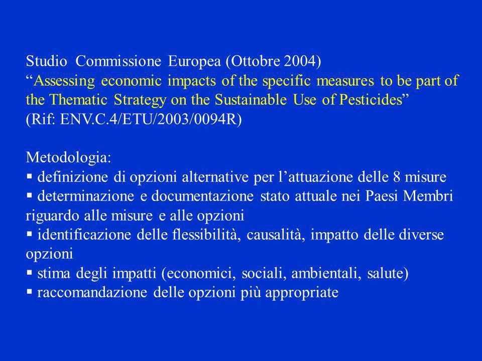 Studio Commissione Europea (Ottobre 2004)