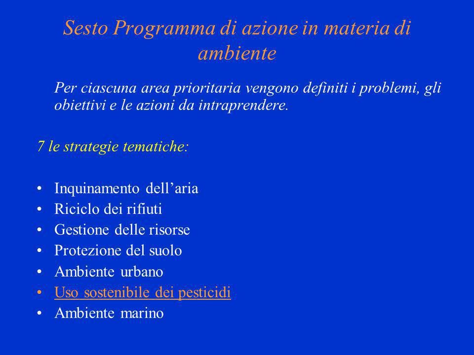 Sesto Programma di azione in materia di ambiente
