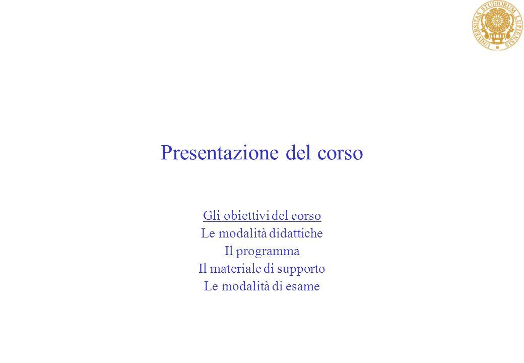 Presentazione del corso