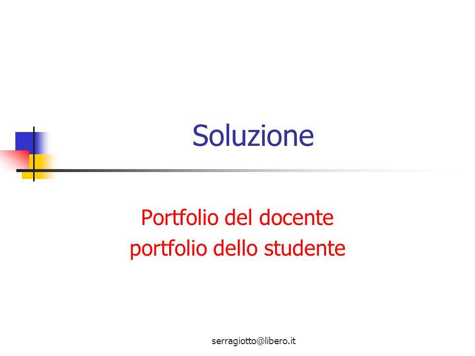 Portfolio del docente portfolio dello studente