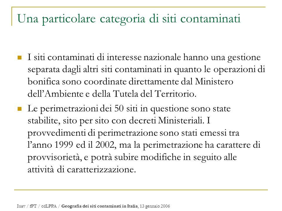 Una particolare categoria di siti contaminati