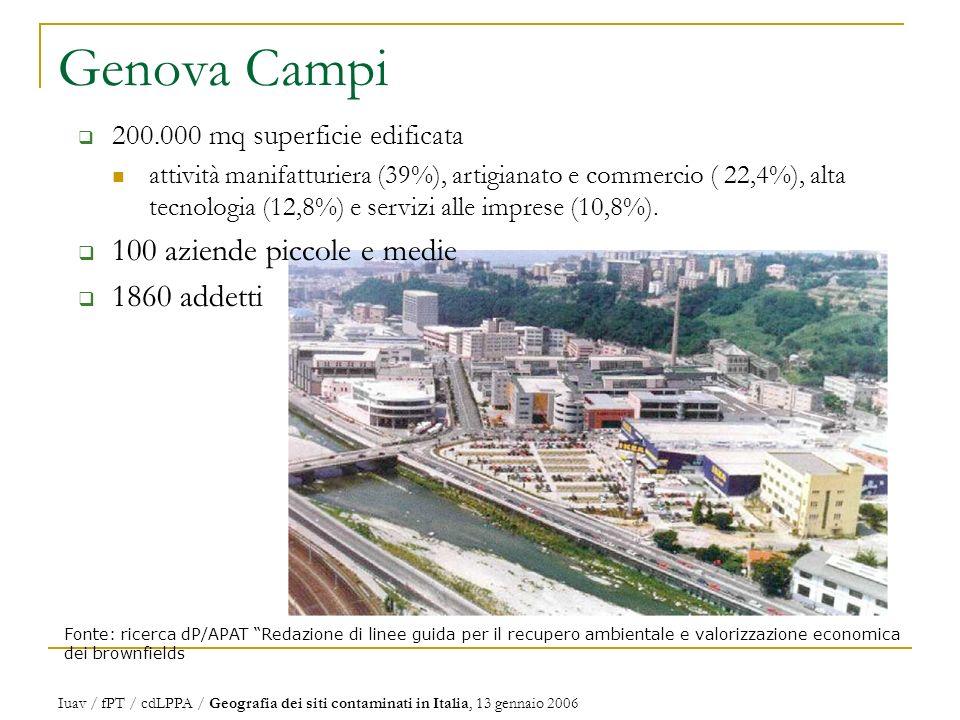 Genova Campi 100 aziende piccole e medie 1860 addetti