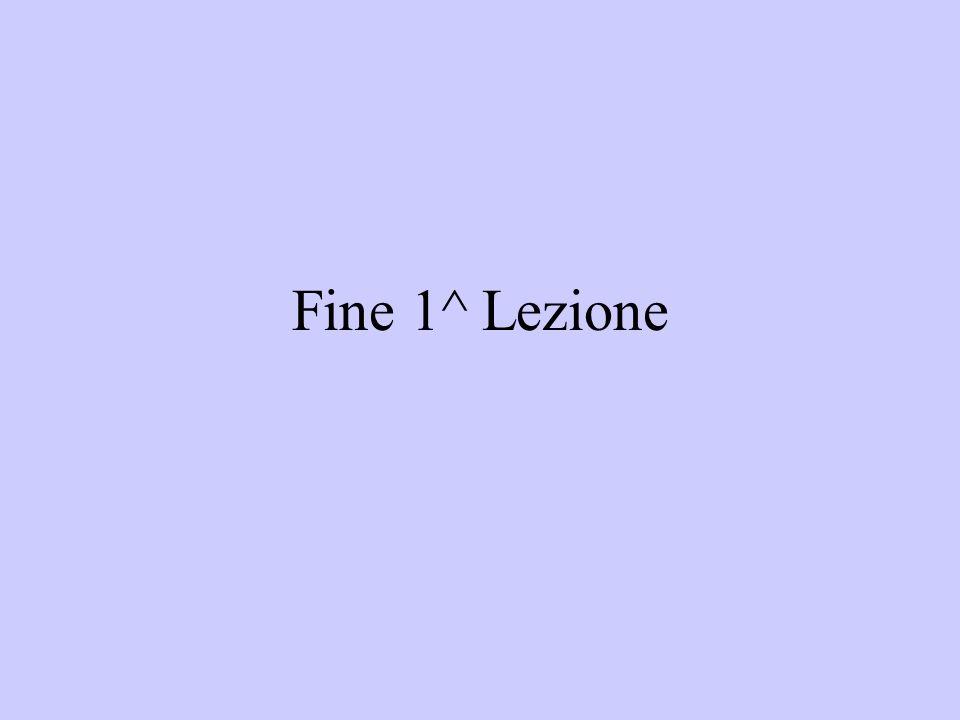 Fine 1^ Lezione