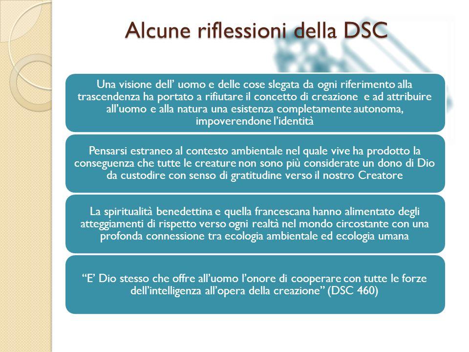 Alcune riflessioni della DSC