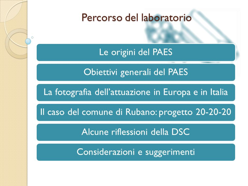 Percorso del laboratorio