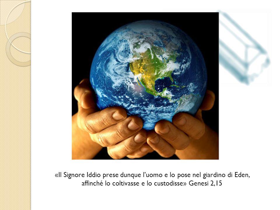 «Il Signore Iddio prese dunque l'uomo e lo pose nel giardino di Eden, affinché lo coltivasse e lo custodisse» Genesi 2,15