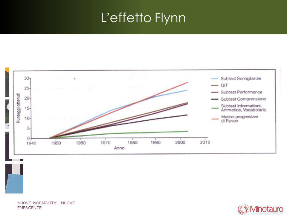 L'effetto Flynn NUOVE NORMALITA', NUOVE EMERGENZE