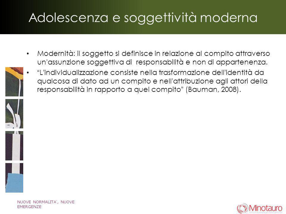 Adolescenza e soggettività moderna