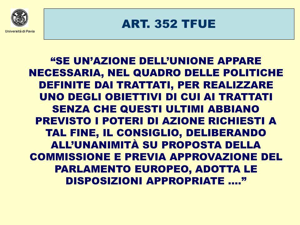 ART. 352 TFUE Università di Pavia.