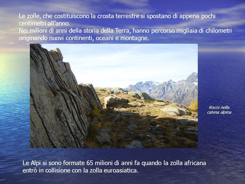 Rocce nella catena alpina